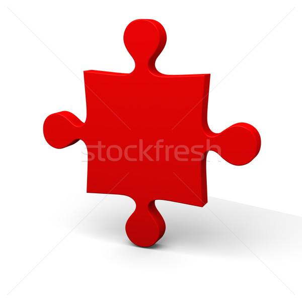красный головоломки кусок изолированный белый объект Сток-фото © Harlekino