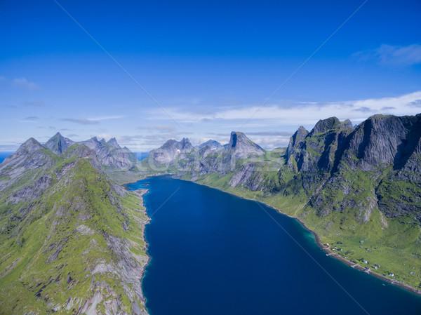 Mozzafiato Norvegia panorama Foto d'archivio © Harlekino
