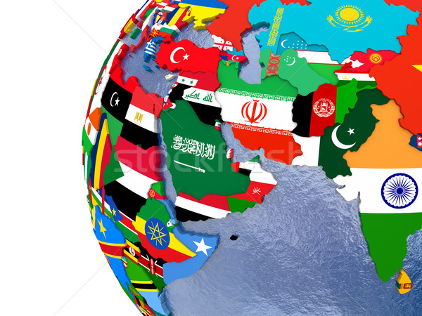Political middle East map Stock photo © Harlekino