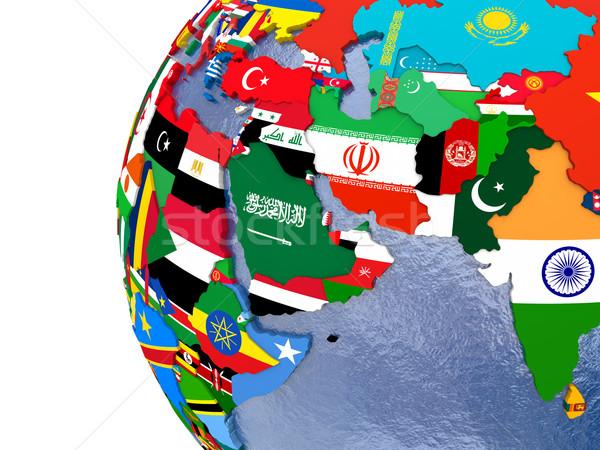 Siyasi Orta Doğu harita bölge ülke model Stok fotoğraf © Harlekino