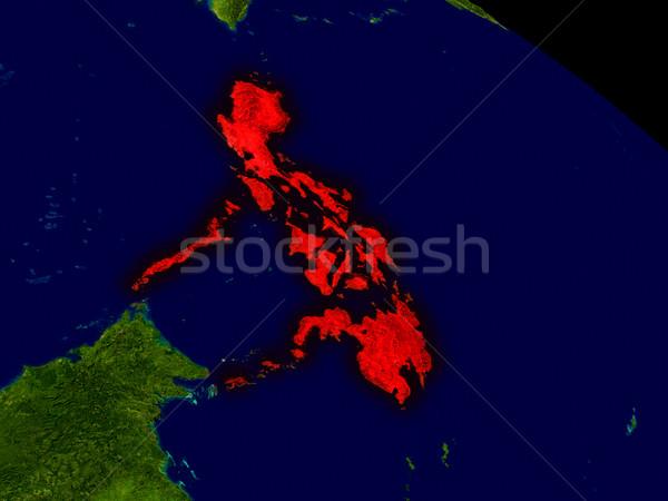 Philippines from space Stock photo © Harlekino