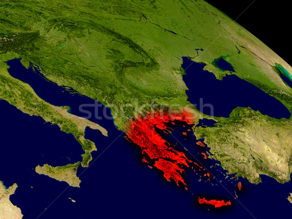 Greece from space Stock photo © Harlekino
