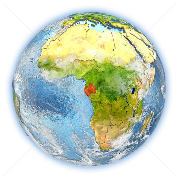 Gabon toprak yalıtılmış kırmızı dünya gezegeni 3d illustration Stok fotoğraf © Harlekino