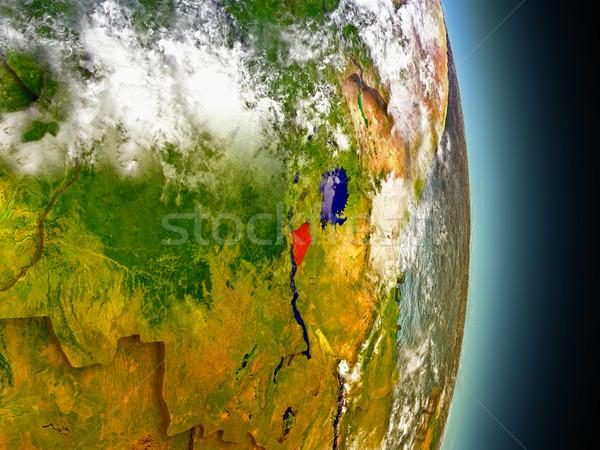 Foto stock: Burundi · vermelho · espaço · modelo · ilustração · 3d