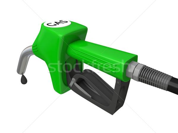 Benzin pumpa fúvóka illusztráció zöld benzinpumpa Stock fotó © Harlekino