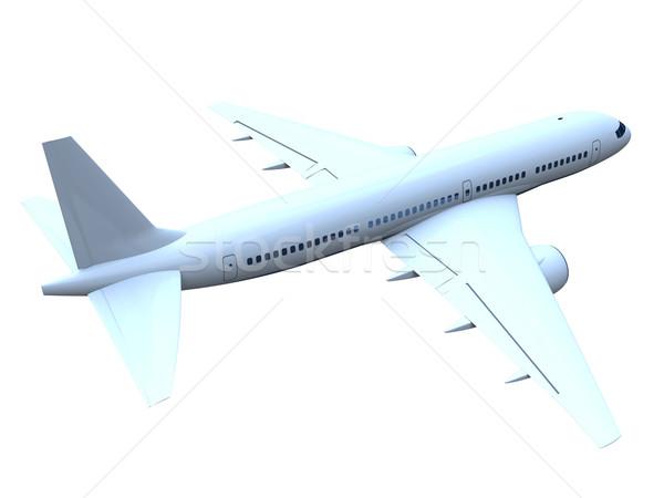 Jet самолет 3D модель Flying самолета Сток-фото © Harlekino