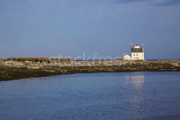 Old norwegian lighthouse Stock photo © Harlekino