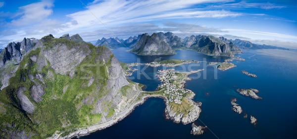 Aerial panorama of Norway Stock photo © Harlekino