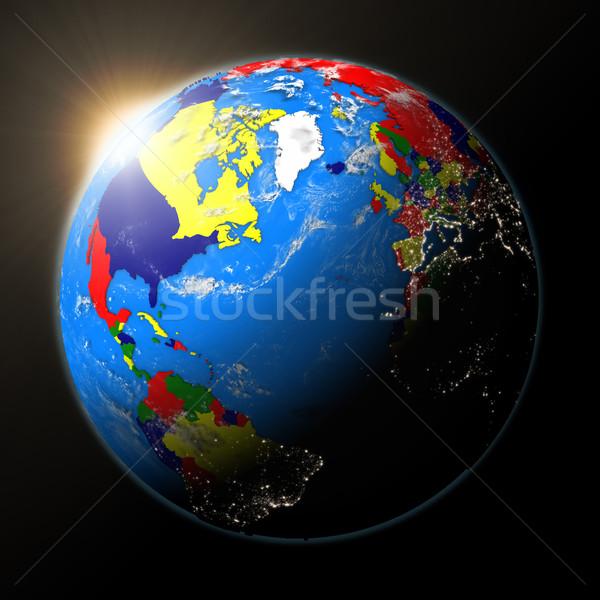 Сток-фото: солнце · север · Америки · планете · Земля · закат