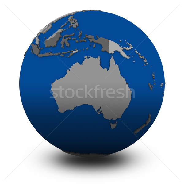 Australia on political globe illustration Stock photo © Harlekino