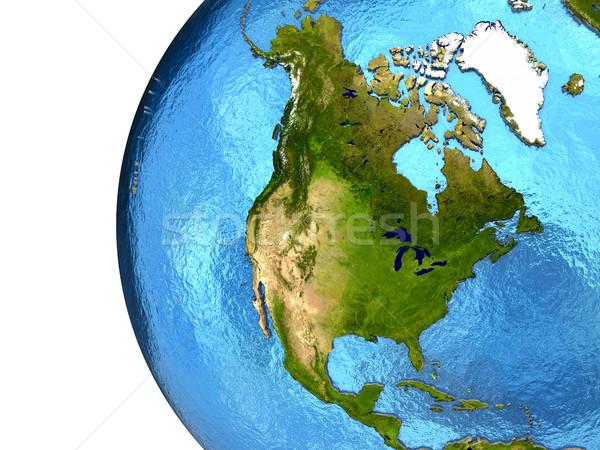 Noorden amerikaanse continent aarde amerika gedetailleerd Stockfoto © Harlekino