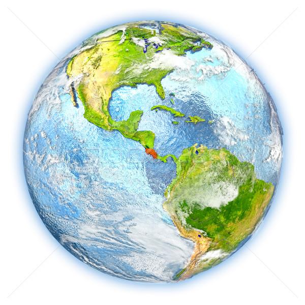 Costa Rica tierra aislado rojo planeta tierra 3d Foto stock © Harlekino