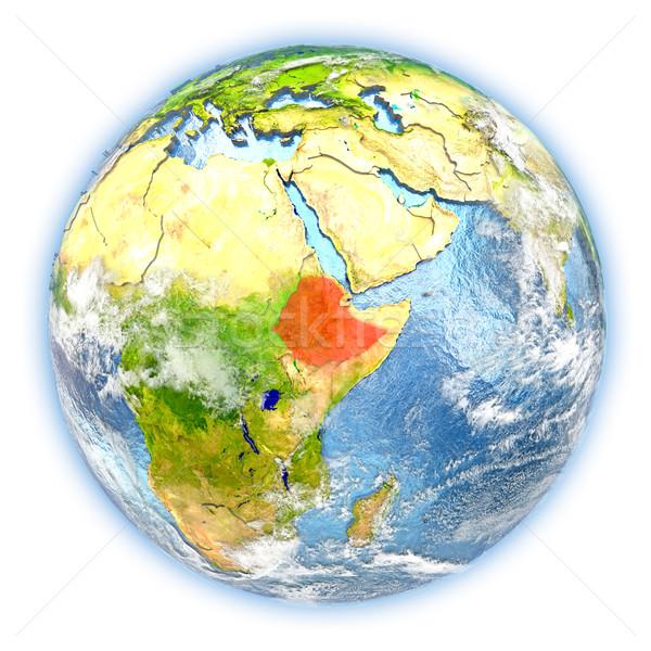 Эфиопия земле изолированный красный планете Земля 3d иллюстрации Сток-фото © Harlekino