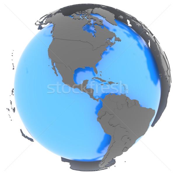 Na północ ameryka południowa ziemi stałego na zewnątrz niebieski Zdjęcia stock © Harlekino