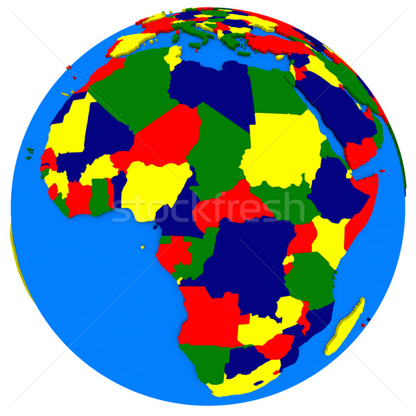 Afrique terre politique carte monde illustration Photo stock © Harlekino