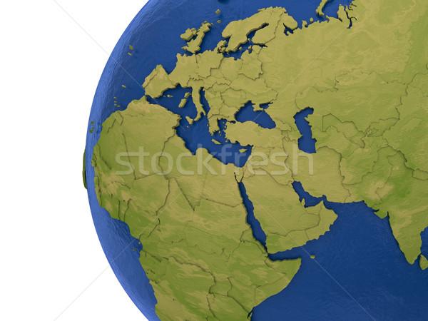 Región tierra Europa Oriente Medio África detallado Foto stock © Harlekino