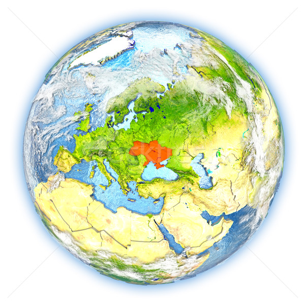 Ukraine on Earth isolated Stock photo © Harlekino