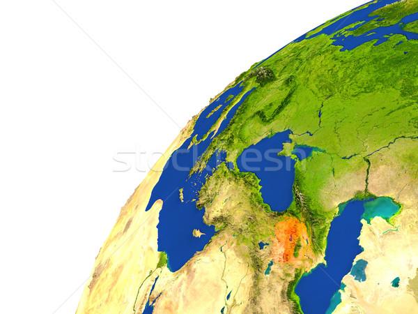 Country of Armenia satellite view Stock photo © Harlekino