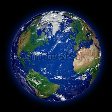 Northern hemisphere on planet Earth Stock photo © Harlekino