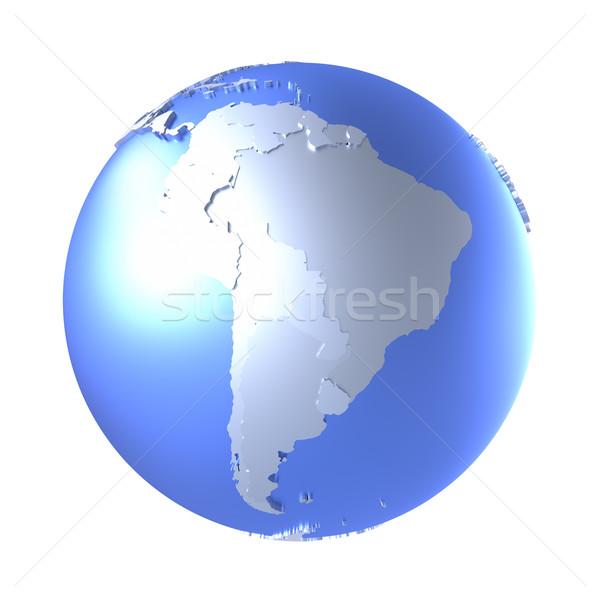 América del sur brillante metálico tierra modelo planeta tierra Foto stock © Harlekino