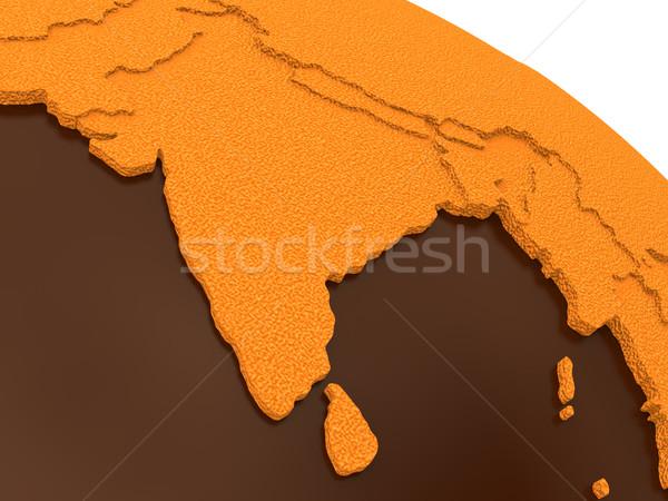 Hindistan çikolata toprak model dünya gezegeni tatlı Stok fotoğraf © Harlekino