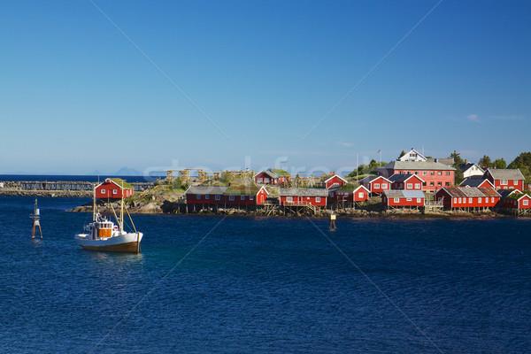 Reine on Lofoten islands Stock photo © Harlekino