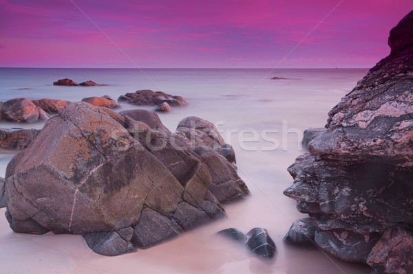 Purple skies over ocean Stock photo © Harlekino