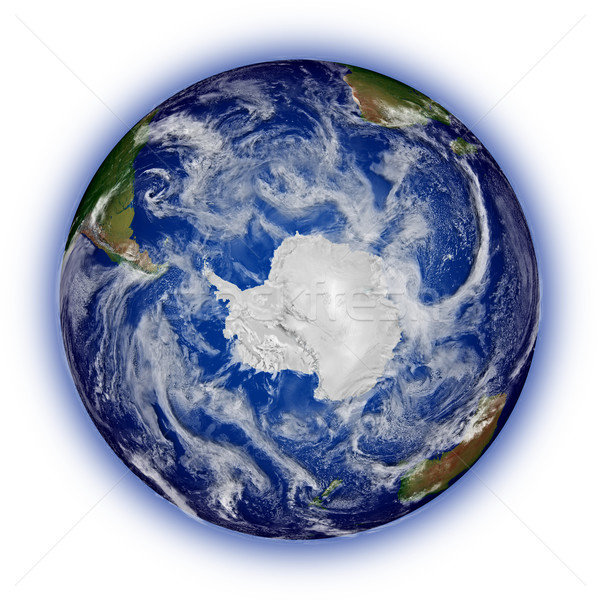 Southern hemisphere on planet Earth Stock photo © Harlekino