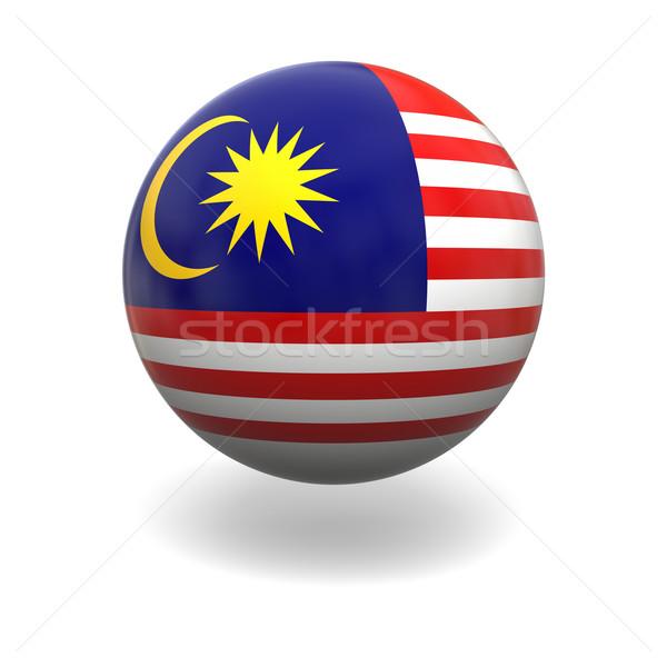 Malásia bandeira esfera isolado branco gráficos Foto stock © Harlekino