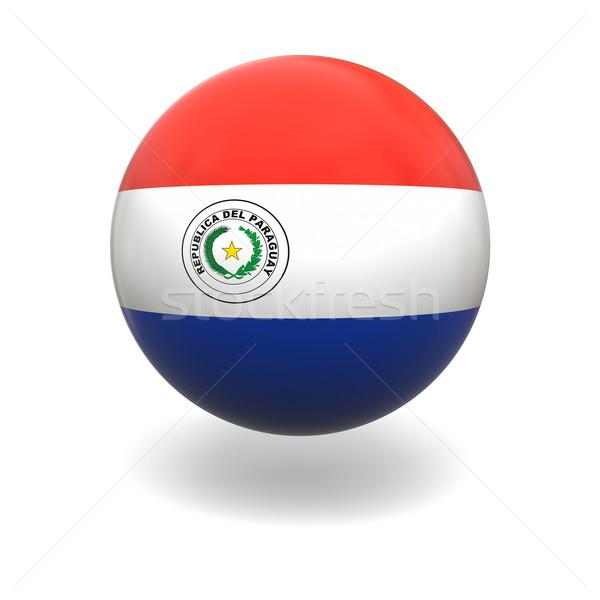 Paragwaj banderą sferze odizolowany biały Zdjęcia stock © Harlekino