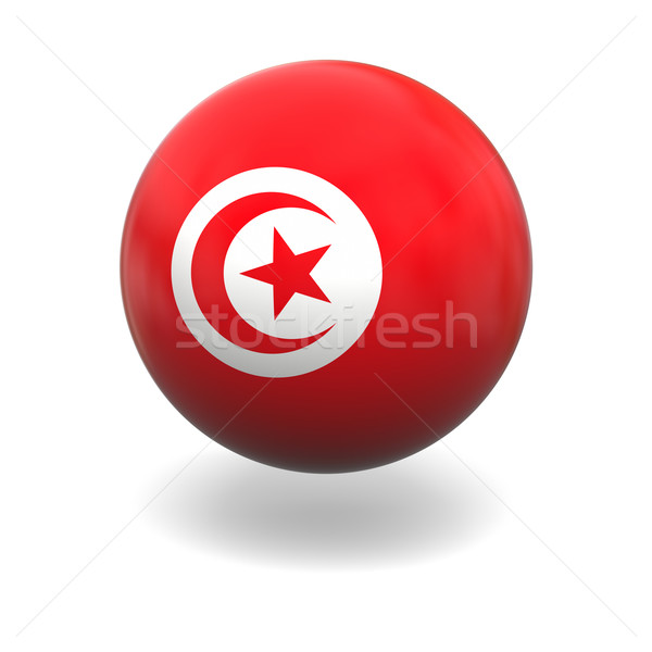 Tunisian flag Stock photo © Harlekino