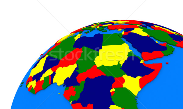 central Africa on Earth political map Stock photo © Harlekino