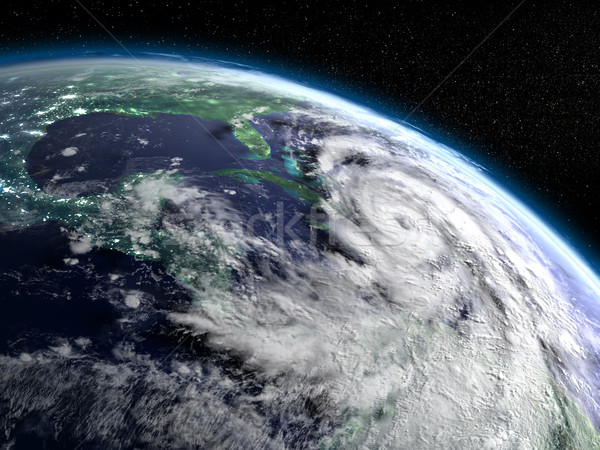 Hurricane Matthew from space Stock photo © Harlekino