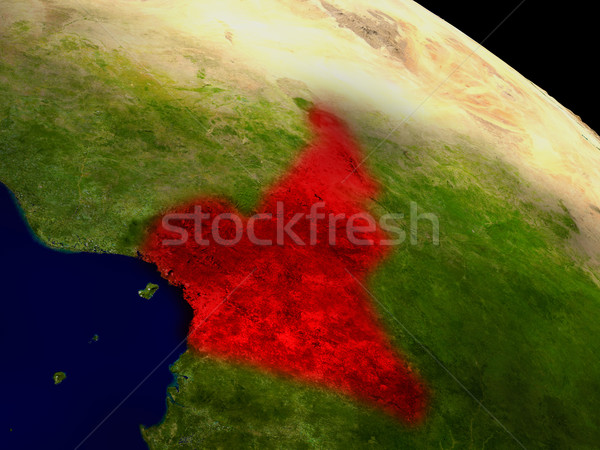 カメルーン スペース 赤 3次元の図 詳しい ストックフォト © Harlekino