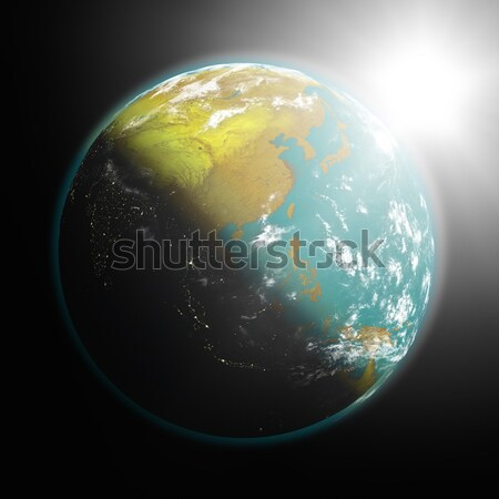 Sunrise over Africa Stock photo © Harlekino