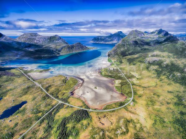 Scénique route autour Norvège Photo stock © Harlekino