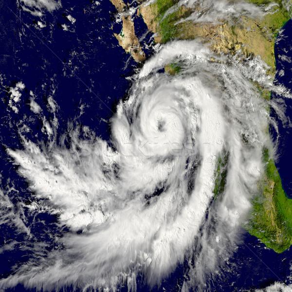 Kasırga örnek elemanları görüntü gökyüzü harita Stok fotoğraf © Harlekino