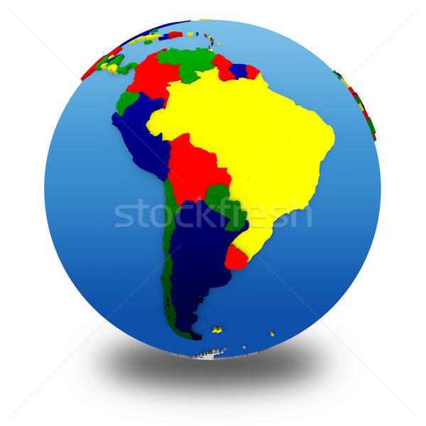 América del sur político modelo tierra 3D continentes Foto stock © Harlekino