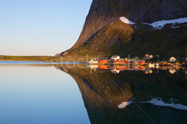 Fjord reflection Stock photo © Harlekino
