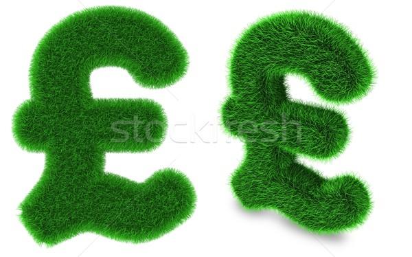 Pound sterling symbol made of grass Stock photo © Harlekino