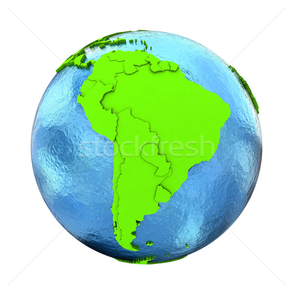 América del sur verde tierra elegante 3D modelo Foto stock © Harlekino