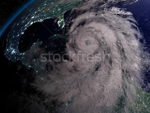 Orkaan nacht reusachtig Florida amerika 3d illustration Stockfoto © Harlekino