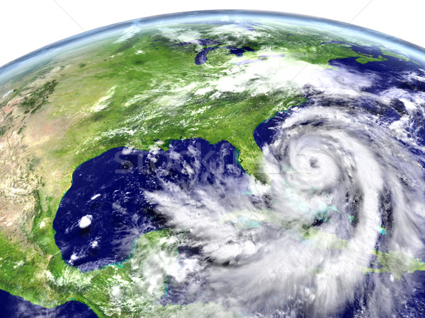 Hurricane approaching America Stock photo © Harlekino
