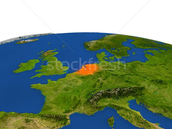 Niederlande rot Orbit Raum Farbe 3D-Darstellung Stock foto © Harlekino