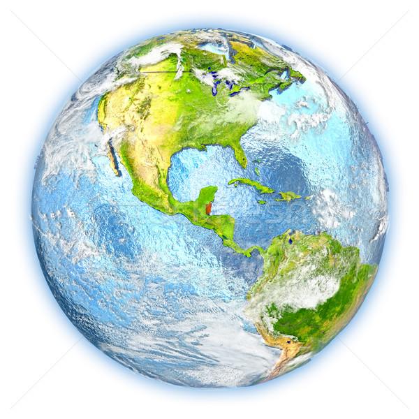 Belize Föld izolált piros Föld 3d illusztráció Stock fotó © Harlekino