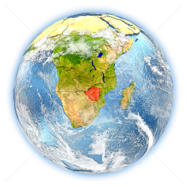 Zimbabwe on Earth isolated Stock photo © Harlekino