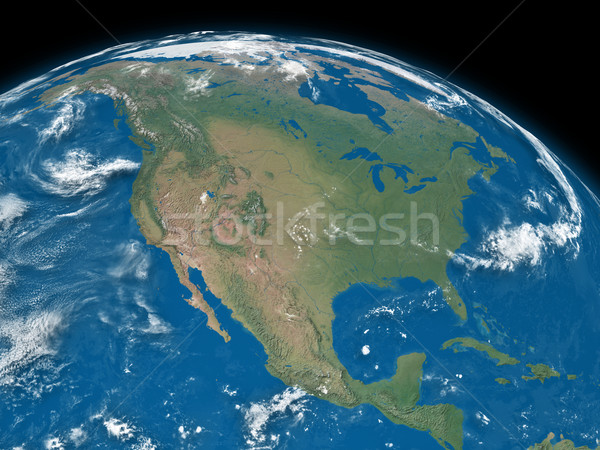 North America on blue Earth Stock photo © Harlekino