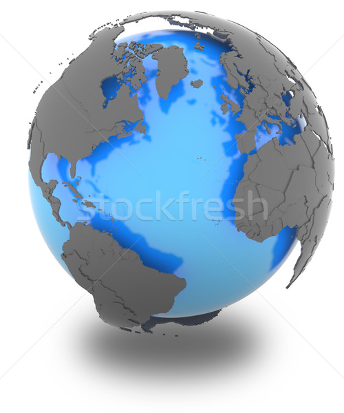 Continents surrounding the Atlantic Stock photo © Harlekino