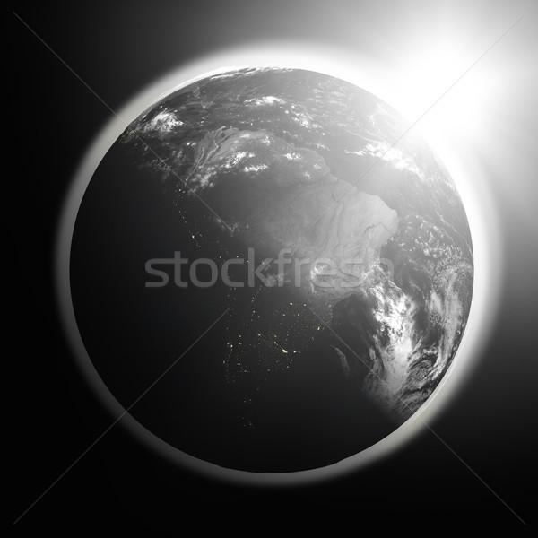 Восход Южной Америке пространстве мнение солнце Сток-фото © Harlekino