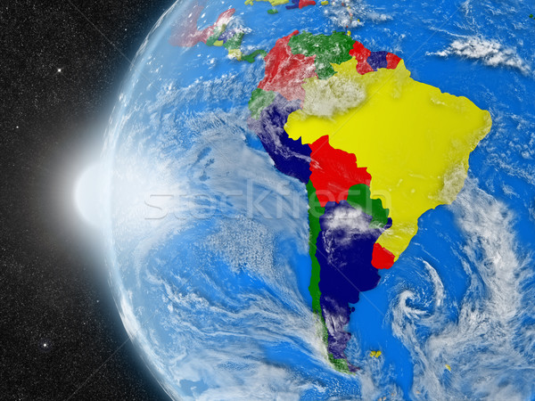 south american continent from space Stock photo © Harlekino